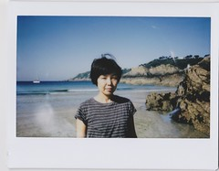 (bobby stokes) Tags: instaxwide instax instantcamera fujifilminstax guernsey analogue film instant beach sea ocean portrait
