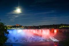 American Falls Night Lightup (Billy K. Chen) Tags: canada ontario niagara niagarafalls waterfall landmark longexposure slowshutter nightphotography nightview night nature naturephotography