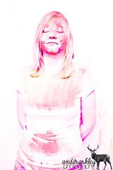 Messy Fun. (anditsashleyphotography) Tags: girl fun colorful mess paint powder messy aspen throwing bold portarit girlportrait messyfun throwingpaint paintgirl paintportrait messyportrait messportrait paintpowder throwingpaintpowder powderpaintgirl