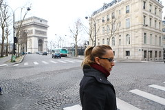 The beauty of Paris (ido1) Tags: winter paris beautiful lady letoile placecharlesdegaulle placedeltoile