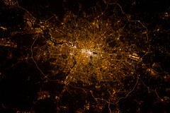 London, England at Night (NASA, International Space Station, 02/02/13) (NASA's Marshall Space Flight Center) Tags: england london thames nasa internationalspacestation earthatnight canadianspaceagency chrishadfield visipix stationscience crewearthobservation stationresearch