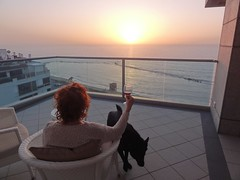 Enjoying the balcony of Maison Lisbona, Bat Yam (dlisbona) Tags: