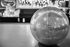 9 Pounds (Flickr Friday) (doctah) Tags: blackandwhite bw white black monochrome smart bar ball alley counter bokeh nine 9 sigma center bowling february bowlingalley veterans lanes pounds merrill vets lbs feb13 dp1 commack flickrfriday 2013 bokelicious dp1m feb2013