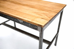 "Oak Top Coffee Table - Corner Detail • <a style=""font-size:0.8em;"" href=""http://www.flickr.com/photos/80301931@N08/8466293183/"" target=""_blank"">View on Flickr</a>"