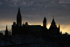 Sunset over the Parliament of Canada - Ottawa (Nino H) Tags: winter sunset sky ontario canada cold building architecture ottawa capital parliament