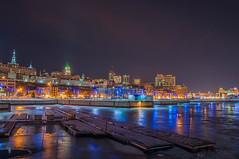 Old Quebec (-StEw-) Tags: reflection ice night nikon shots qubec nikkor 18105 d90