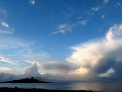 . (RoBeRtO!!!) Tags: blue light sea sky cliff sun white reflection water beautiful clouds island rocks mare nuvola lovely1 cielo sicily bianca sole palermo acqua azzurro luce isola riflesso marenostrum scoglio isoladellefemmine rdpic canong7