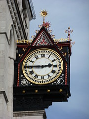 Royal Courts of Justice Clock (Worthing Wanderer) Tags: summer london sunny august olympics sights bustour london2012