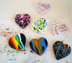 Heart Brooches (seesuestitch) Tags: geometric pin brooch brooches heartbrooch geometricbrooch