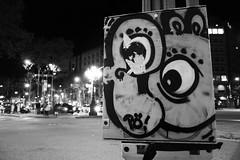 Barcelona (AYUMI-TURQUOISE) Tags: barcelona street light white black de graffiti spain turquoise federica bianco nero passeig barcellona ayumi gràcia pagano