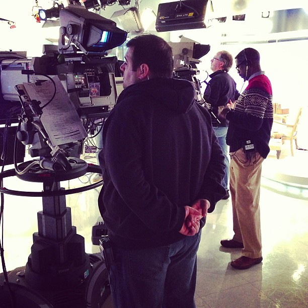 Cameras 1, 2 and 3! Inside @todayshow #SteveInToday