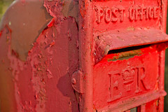 Tired Old Post Box (David Canon) Tags: red peeling postbox flaking flaky