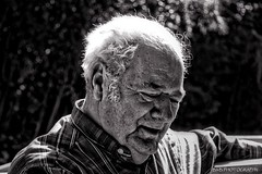 Ben ( B.H.B. PHOTOGRAPHY ) Tags: old portrait blackandwhite bw white man black hair georgia grey flickr ben grandfather older plaid wrinkles greyhair 2013 blackwhitephotos