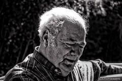Ben ( B.H.B. PHOTOGRAPHY ) Tags: old portrait blackandwhite bw white man black hair georgia grey flickr ben grandfather older plaid wrinkles greyhair 2013 blackwhitephotos