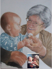 A Perfect Moment (Stage 2) (suzanne2306) Tags: portrait people art painting artwork artist drawing pastel group stages canvas pastels making progression phases softpastel actualprogressionandphasesofpasteldrawings