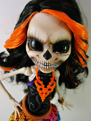 Skeleton Skelita (nonaptime) Tags: ooak repaint customdoll monsterhigh skelitacaldaveras