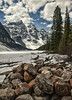 Moraine Lake Spring (Jeff Clow) Tags: lake snow nature landscape spring rocks albertacanada banffnationalpark morainelake canadianrockies tpslandscape