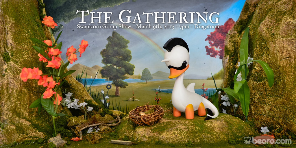 Daniel Fleres presents The Gathering, a Swanicorn group show at Dragatomi