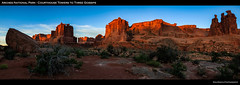 Courthouse to Gossips Wide View (ken.krach (kjkmep)) Tags: sunrise utah archesnationalpark threegossips courthousetowers