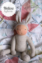 Mellow Rabbit (Fig & Me) Tags: rabbit doll natural handmade poupe lalka clothdoll popje stoffpuppe figandme