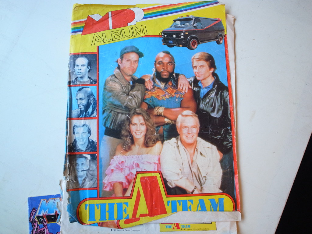 The A-Team sticker book