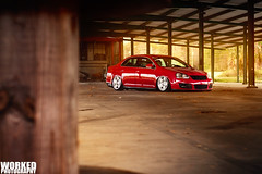 Thomas's MK5 (Jacob Tompkins | Worked Photography) Tags: sunset red vw bag tampa nikon ride florida air wheels brandon fl tornado lowered dropped slammed stance mkv airride d90 fitment stanced workedphotography