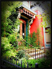 An Organic Garden at the front door ~ William J. Gillett House ~ Noted for the Architecture ~ Historic (Onasill ~ Visiting ~ Will Return Comments Soon.) Tags: county door house ny building church st architecture j place w entrance style william historic architect trinity empire second syracuse register exchange 515 onondaga gillett nrhp onasill