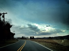Scenery (calicohed) Tags: road street winter sky beautiful beauty weather clouds march photo spring scenery nj picture photograph 2013 uploaded:by=flickrmobile flickriosapp:filter=nofilter