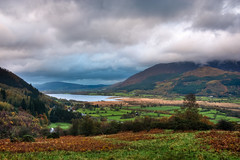 Stormy Clouds over Bassenthwaite Lake (lighthunter09) Tags: uk england cloud mountain lake mountains horizontal clouds dark cloudy unitedkingdom lakedistrict stormy cumbria keswick hdr cloudscape thornthwaite bassenthwaitelake