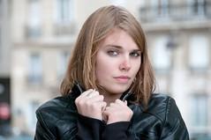 (Alain Bachellier) Tags: fashion hiver mode camille froid modele blouson cuir