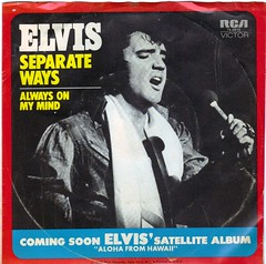 45 RPM Elvis Presley Separate Ways b/w Always On My Mind (A.Currell) Tags: bw album vinyl picture elvis 45 victor jacket single mind record always presley sleeve ways rca rpm 45rpm on separate my