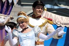 Cinderella and Prince Charming-Dream Along with Mickey (snow1937white) Tags: disney disneyworld wdw waltdisneyworld magickingdom dreamalongwithmickey facecharacter castleshow facecharacters disneyentertainment castleperformance