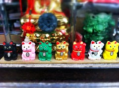 Chinatown (Amber Crouch) Tags: chicago chinatown manekineko luckycat luckycharm welcomingcat uploaded:by=flickrmobile flickriosapp:filter=nofilter