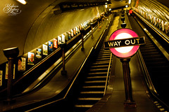 Way out (Paki Nuttah) Tags: wood uk light england london art st stairs train dark way out underground europe transport tube rail line gb deco johns jubiliee