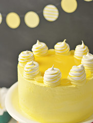 Lemon Meringue Delight 2 (Sweetapolita) Tags: yellow lemon layercake lemoncurd eastercake lemonmeringue lemoncake meringues sweetapolita bakedmeringues