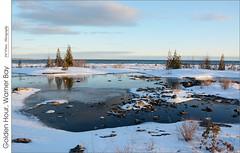 Golden Hour, Warner Bay (jwvraets) Tags: ice nikon shoreline gimp lakehuron goldenhour tobermorey d7100 warnerbay nikkor18105mmvr