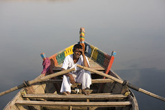 The Boatman's Brother (Chesil) Tags: travel india man boat fishing fisherman village rowboat maharashtra chesil bhigwan