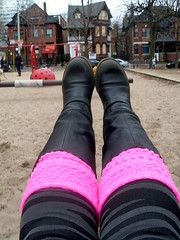 Swinging Into Spring (Georgie_grrl) Tags: park pink toronto ontario me playground fun spring boots smiles happiness moi tights swing positive swinging stripey finale legwarmers oxo wheeeee bootyshot thankyouall itsthelittlethings mydarkpinkside samsungd760 new365project huronstreetnearbloorstreetwest