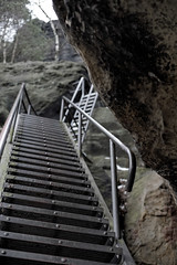 Stairs (Thundersnook) Tags: winter schweiz rocks urlaub canyon valley felsen winterberg schsische groser schmilka