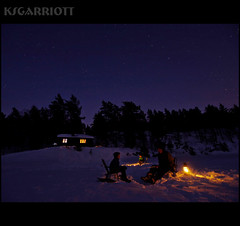 Indigo Ice Fishing (KSGarriott) Tags: longexposure winter light lake holiday snow ice nature lamp night forest easter stars landscape lumix norge fishing cabin glow olympus panasonic starry natt pske icefishing hytte isfiske 918 gh2 oggevann ksgarriott scottgarriott