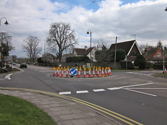 Time for a new roundabout (synx508) Tags: construction roadworks roundabout windsor cones trafficcone milllane a308 parsonagelane maidenheadroad