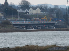 New Loughor railway bridge 1st April 2013 (3) (Gareth Lovering) Tags: bridge water swansea wales night river landscape group railway trains olympus llanelli user omd lovering networkrail loughor em5 oowug