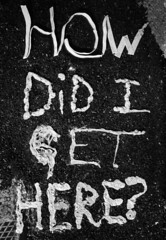 How Did I Get Here? (Drew Albinson Creative) Tags: urban gum poster typography design weird stuck handmade pavement bubble type letter stick chew squish typo letterform popped