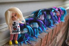 Hairy Business (Scribble Dolls) Tags: cute art monster fur miniature stuffed furry doll acrylic sweet handmade ooak critter small fluffy mini 11 fluff plush cm softie fabric stuffedanimal handpainted plushie faux handsewn cloth nano creature sewn gretel bitty obitsu 11cm scribbledolls bitsu