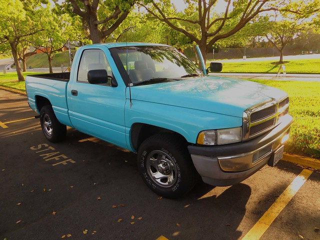 blue truck chevy 1994 dodgeram luna16