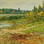 "<b>Landscape (Woods and Marsh)</b><br/> Gausta, #10, Oil, Painting<a href=""//farm9.static.flickr.com/8386/8638184434_237bff8974_o.jpg"" title=""High res"">&prop;</a>"