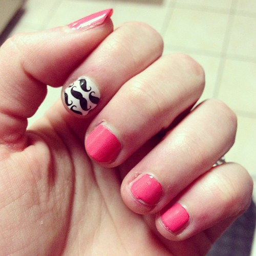 New Jamberry Mustache Nails