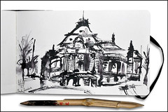 Hamburg - Laeiszhalle (rafaelmucha) Tags: ink notebook sketch hamburg sketchbook bamboo draw inking bambusfeder leiszhalle
