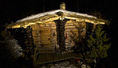http://www.eetupuurtinen.fi/ (sami kuosmanen) Tags: light snow nature night suomi finland log cabin handmade oldschool craftsman lumi eetu mkki y valo hirsimkki perinteinen puurtinen puusepp
