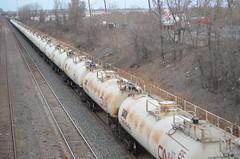 GATX TankTrain cars (Michael Berry Railfan) Tags: cn quebec montreal lachine canadiannational tankcars tanktrain cn309